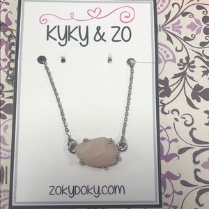 Dainty Pink Sculpted Bead Necklace,NWT